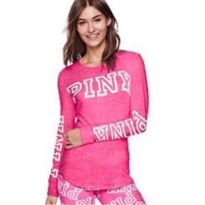 Vs Pink Cozy Jersey Sleep Shirt Top Pajama L